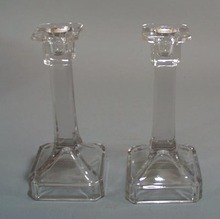 Pr of Crystal Candle holders.
