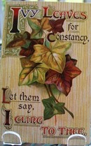Ivy Leaves for Constance Post Card