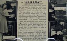 The Mailomat Letter Box Post Card
