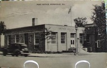 Post Office Rushville, Illinois Post Card