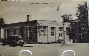 Post Office Rushville, Illinois Post Card