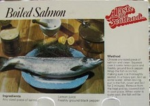 Boiled Salmon Recipe Post Card
