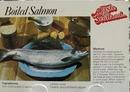 Boiled Salmon Recipe Post Card