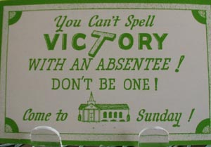 You Can't Spell Victory Religious Postcard