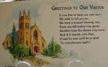 Greetings To Our Visitor Religious Postcard