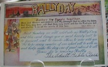 Rally Day Gather People Religious Postcard