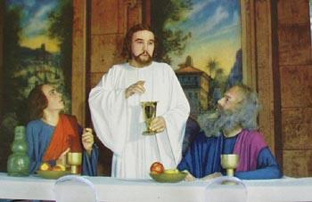 Last Supper Scene Passion Play Postcard