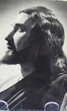 Josef Meier as Christus Religious Postcard