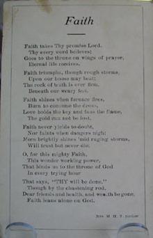 Faith by M H T Jordon Religious Postcard