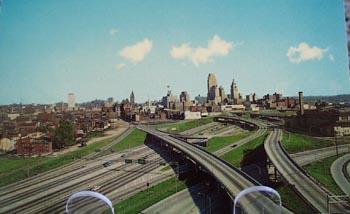 Expressway Daytime Cin. Ohio Postcard