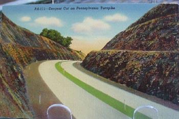 Deepest Cut Penna Turnpike Postcard.