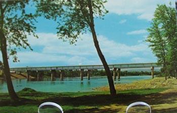 Twin Bridges Turbotville Pa Postcard