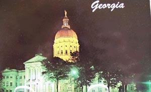 Georgia Capitol at Night Postcard