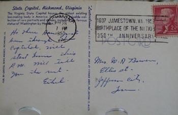 Virginia Capitol Close Up View Postcard