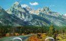 Teton Peaks Closeup No. Pacific Rwy  PC