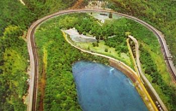Horseshoe Curve Aerial View Postcard