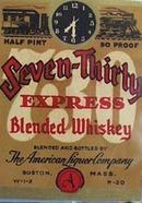 Seven Thirty Blended Whiskey Bottle Label