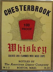 Chesterbrook Whiskey Bottle Label