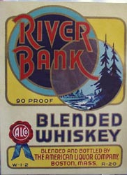 River Bank Whiskey Bottle Label