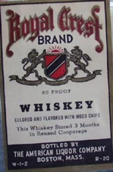 Royal Crest Whiskey Bottle Label