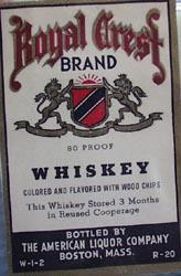 Royal Crest Whiskey Bottle Label