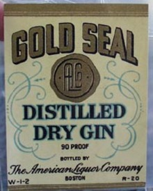 Gold Seal Dry Gin Bottle Label