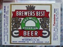 Brewer's Best Bavarian Beer Bottle Label