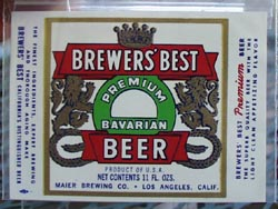 Brewer's Best Bavarian Beer Bottle Label