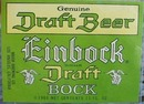 Einbock Draft Bock Beer Bottle Label.