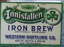 Innisfallen Iron Brew Bottle Label.