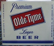 Olde Tyme Beer Bottle Label