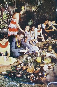 Luau Hawaiian Feast Postcard