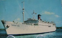 Cruise Ship Banana Star Postcard