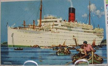 Cunard White Star Ship Postcard.