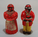 Old Aunt Jemima and Uncle Moses Salt & pepper set