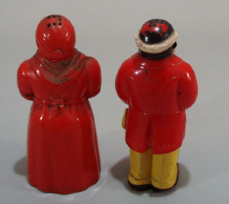 Old Aunt Jemima and Uncle Moses Salt & pepper set