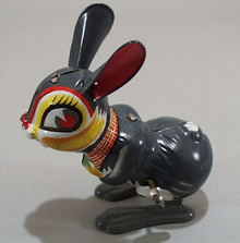Windup hopping bunny