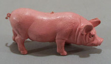 Pink sow with realistic expression