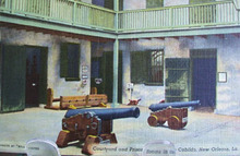 Courtyard in Cabilda New Orleans Postcard