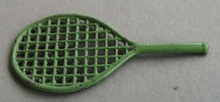 Cracker Jack Tennis Racket Metal Toy.