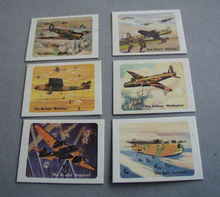 Complete Set of 6 R.A.F Airplane Cards