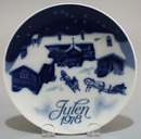 Porscrund 1978 Christmas Plate, Norway called Christmas Eve