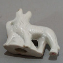 Old porcelain German Shepard dogs mini figurine