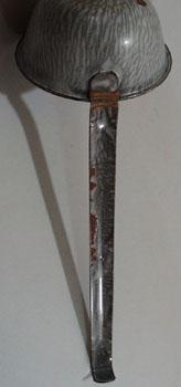 Graniteware Ladle, mottled grey