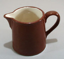 Redware old cream pitcher.