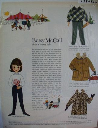 Betsy McCall Visits County Fair Ad 1960