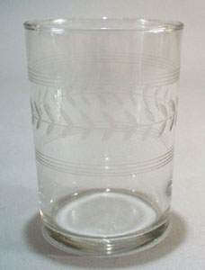 Old Glass with Laurel Cut.