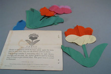 1935 Warren Textile Pansey Quilt Material.