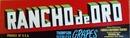 Rancho de Oro Grapes Crate Label