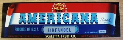 American Fruit Crate Label with Eagle.